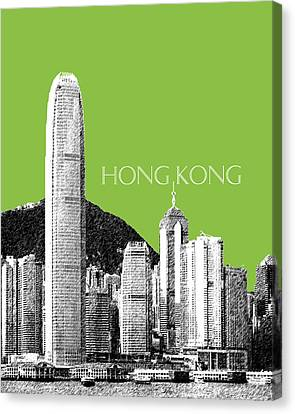 Hong Kong Skyline 1 - Olive Canvas Print by DB Artist