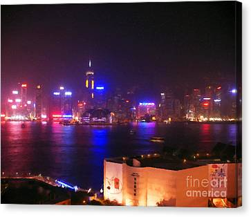 Hong Kong Skyline Canvas Print by Pixel  Chimp