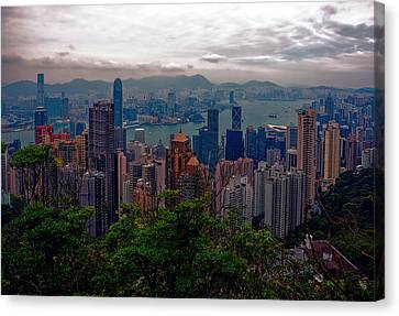 Hong Kong Skyline Canvas Print by Robert Knight