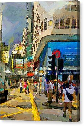 Hong Kong Streets 1 Canvas Print by Yury Malkov