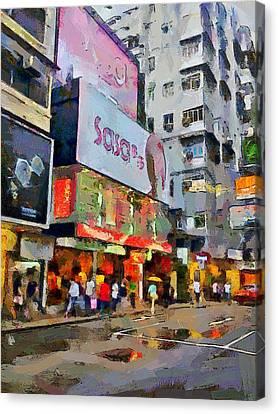 Hong Kong Streets 2 Canvas Print by Yury Malkov
