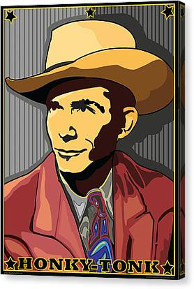 Honky Tonk Hank Williams Canvas Print by Larry Butterworth