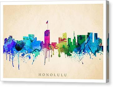 Honolulu Cityscape Canvas Print