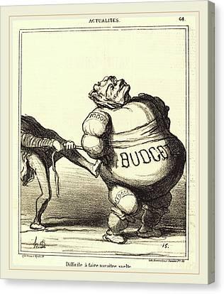 Honoré Daumier French, 1808-1879, Difficile à Faire Canvas Print by Litz Collection