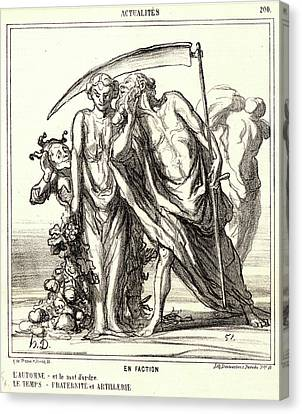 Honoré Daumier French, 1808 - 1879. En Faction Canvas Print by Litz Collection
