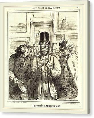 Honoré Daumier French, 1808-1879, La Promenade Du Critique Canvas Print by Litz Collection