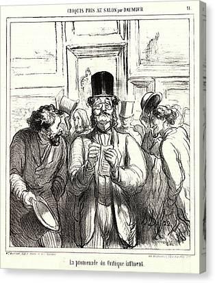 Honoré Daumier French, 1808 - 1879. La Promenade Du Canvas Print by Litz Collection