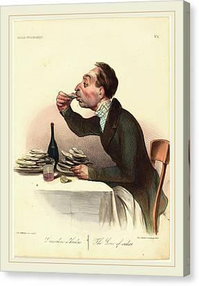 Honoré Daumier French, 1808-1879, Lamateur Dhuitres Canvas Print