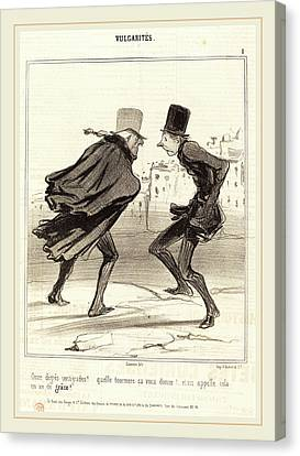 Stormy Weather Canvas Print - Honoré Daumier French, 1808-1879, Onze Degrés Centigrades by Litz Collection