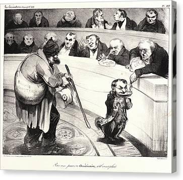 Honoré Daumier French, 1808 - 1879. Pour Un Pauvre Canvas Print by Litz Collection