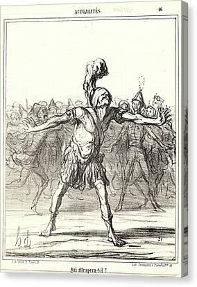 251 Canvas Print - Honoré Daumier French, 1808 - 1879. Qui Attrapera-t-il by Litz Collection