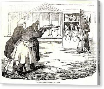 Honoré Daumier French, 1808 - 1879. Tous Les Coups Portent Canvas Print by Litz Collection