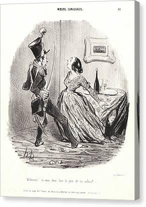 Honoré Daumier French, 1808 - 1879. Unfortunate Man Canvas Print