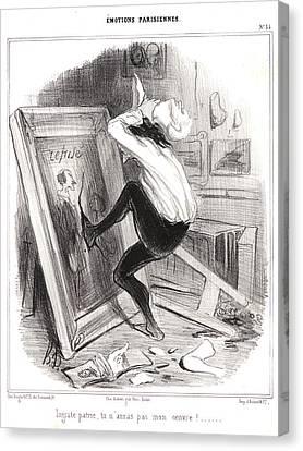 Honoré Daumier French, 1808 - 1879. Ungrateful Canvas Print by Litz Collection
