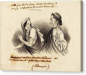 Honoré Daumier French, 1808 - 1879, Va Faire Admirer Ta Canvas Print by Quint Lox