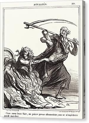 Honoré Daumier French, 1808 - 1879, Vous Aurez Beau Faire Canvas Print by Quint Lox