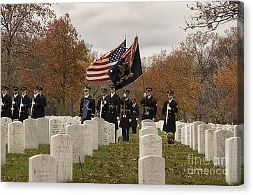 Arlington National Cemetery Canvas Print - Honor Guard by Terry Rowe