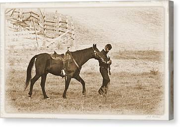 Canvas Print featuring the photograph Honorig A Fallen Soldier by Judi Quelland