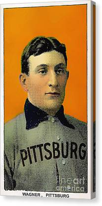 Honus Wagner Baseball Card 0838 Canvas Print