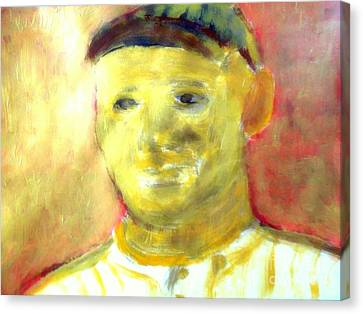 Honus Wagner Greatest Shortstop 1 Canvas Print by Richard W Linford