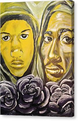 Hood Heaven Canvas Print by Sean Ivy aka Afro Art Ivy
