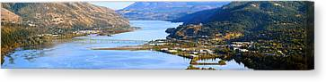 White River Scene Canvas Print - Hood River Bridge, Hood River, Oregon by Panoramic Images