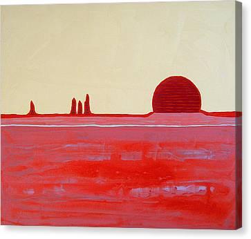 Hoodoo Sunrise Original Painting Canvas Print