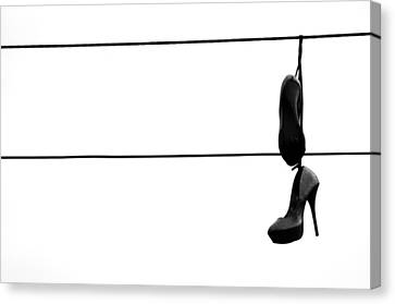 Hooked And Booked  Canvas Print