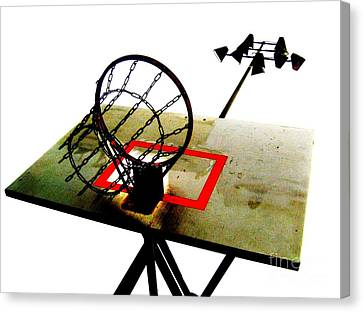 Hoop City Chains Canvas Print by John King