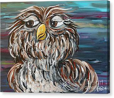 Hoo's Your Daddy Canvas Print by Eloise Schneider