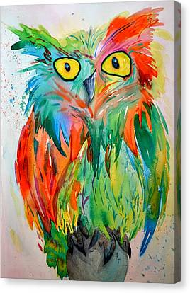 Hoot Suite Canvas Print by Beverley Harper Tinsley