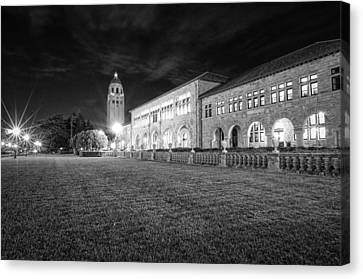 Hoover Tower Stanford University Monochrome Canvas Print by Scott McGuire