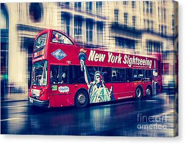 hop on hop off  through NYC Canvas Print by Hannes Cmarits