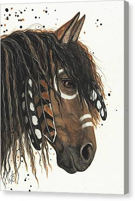 Hopa Majestic Mustang Series 47 Canvas Print by AmyLyn Bihrle
