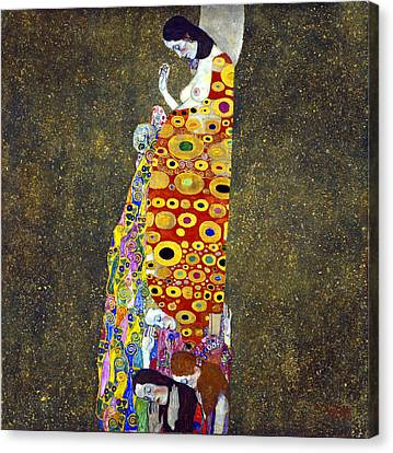 Hope 2 Canvas Print by Gustive Klimt