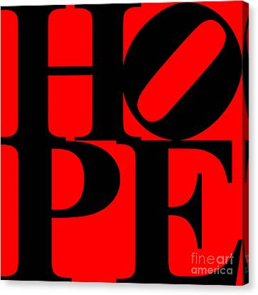 Hope 20130710 Black Red Canvas Print by Wingsdomain Art and Photography