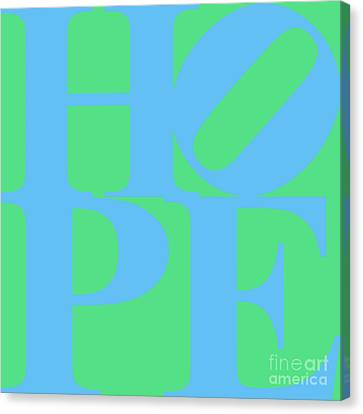 Hope 20130710 Blue Green Canvas Print by Wingsdomain Art and Photography