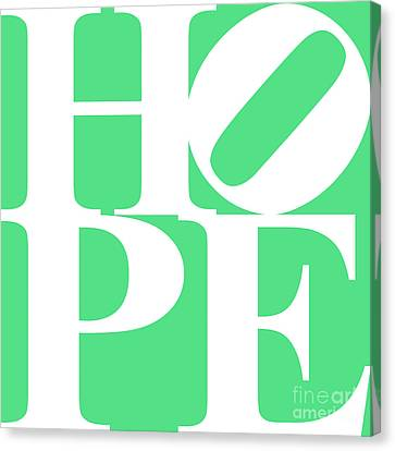 Hope 20130710 White Green Canvas Print by Wingsdomain Art and Photography