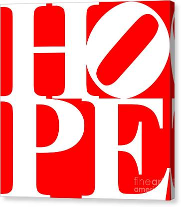 Hope 20130710 White Red Canvas Print by Wingsdomain Art and Photography