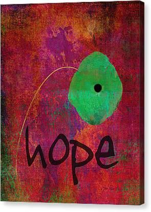 Hope - Abstract Flower Art  Canvas Print