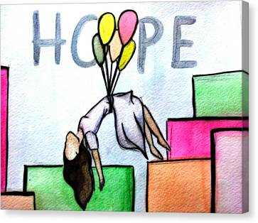 Hope Afloat  Canvas Print by Kiara Reynolds