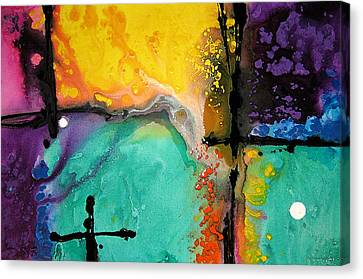 Hope - Colorful Abstract Art By Sharon Cummings Canvas Print by Sharon Cummings