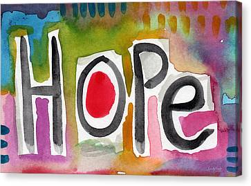 Hope- Colorful Abstract Painting Canvas Print by Linda Woods