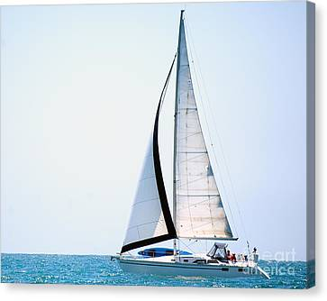 Hope Floats Sailboat From The Book My Ocean Canvas Print by Artist and Photographer Laura Wrede