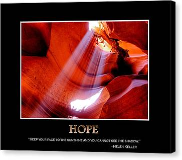 Hope - Helen Keller Canvas Print by Gregory Ballos