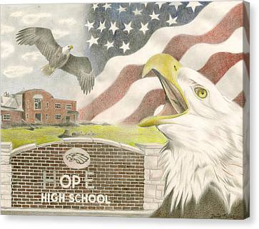 Raptor Canvas Print - Hope High School by Dustin Miller