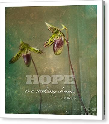Hope Is Canvas Print by Sally Simon