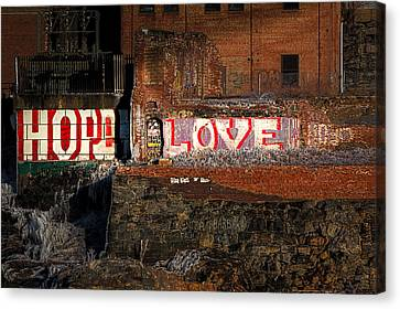 Hope Love Lovelife Canvas Print by Bob Orsillo
