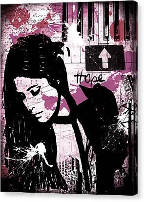 Graffiti Canvas Print - Hope Pink by Melissa Smith