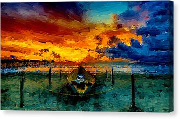A Colorful Seascape Canvas Print by VRL Art